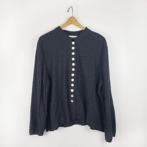 Willow boxy Lagenlook button front cardigan XL